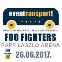 Prevoz na koncert FOO FIGHTERS - Ulaznice ©