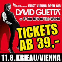 David Guetta First Vienna Open Air - Karten ©