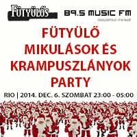 7170f8af7d Jegyek rendelése Fütyülős – 89.5 Music FM Mikulás Party, Budapest ~ RIO  Budapest
