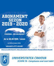 Universitatea Craiova - Abonamente Sezon - Tickets - ©